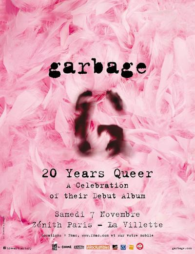 Garbage - Le Zénith - Paris, samedi 7 novembre 2015