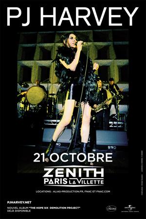 PJ HARVEY En concert le 21 octobre au Zénith de Paris