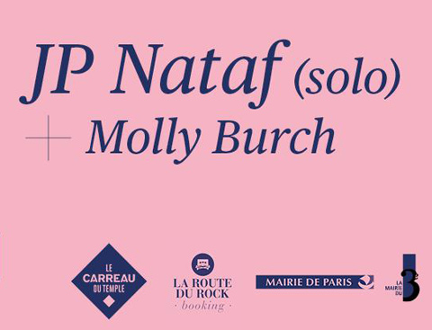 MOLLY BURCH en concert le 30 septembre au Carreau du Temple