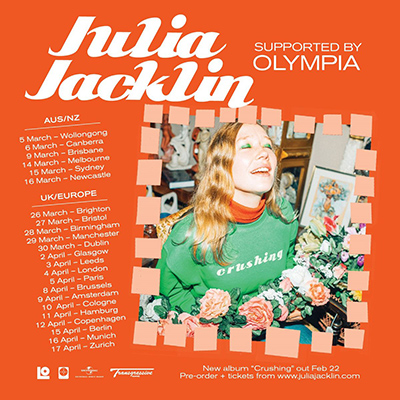 Julia Jacklin + Olympia - Tournée 2019