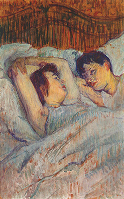 """Toulouse-Lautrec """" Le lit"""""""